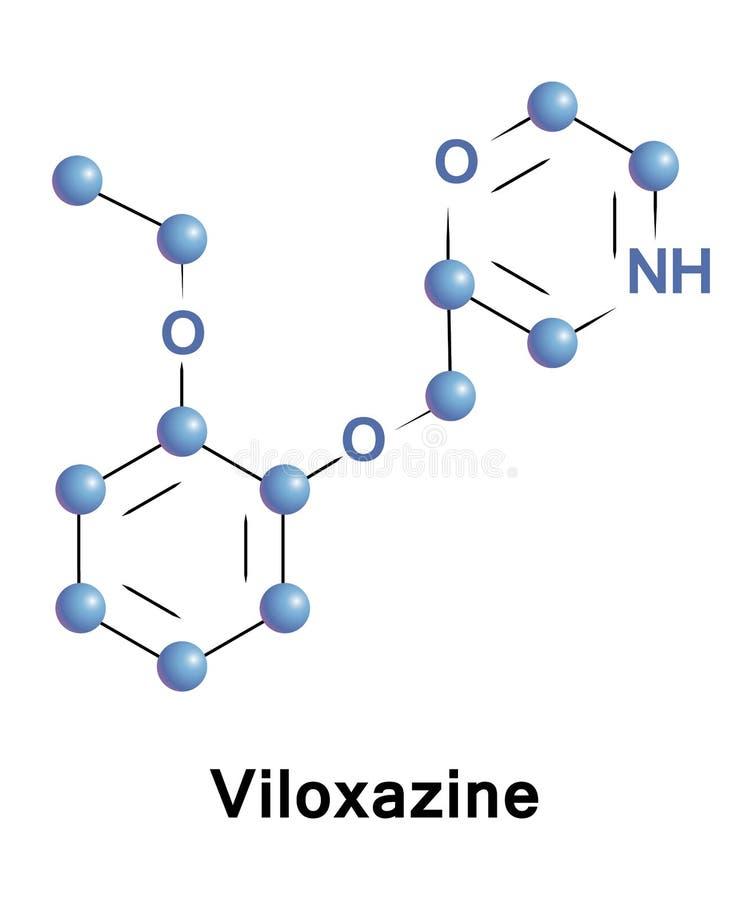 Το Viloxazine είναι ένα morpholine παράγωγο διανυσματική απεικόνιση