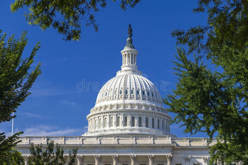 Το Washington DC, θόλος κτήριο κρατικού το εθνικό Capitol στοκ εικόνες