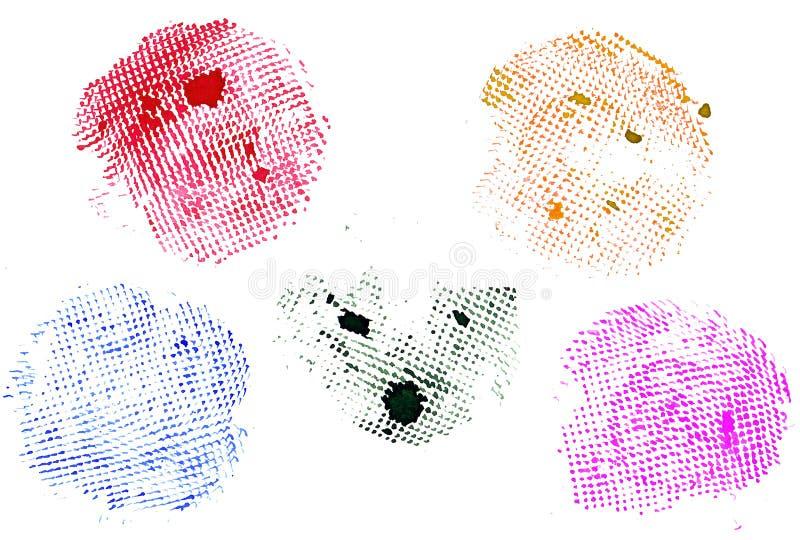 Το Watercolor περιβάλλει 5 σε 1 απεικόνιση αποθεμάτων