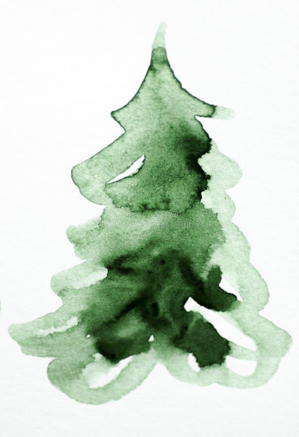 Το Watercolor τρία βαθύ χρώματος χρώμα acrylics υποβάθρου σύστασης πράσινο άσπρο γκρίζο σύρει το χρώμα σύρει τις διακοπές απομονώ στοκ εικόνες με δικαίωμα ελεύθερης χρήσης