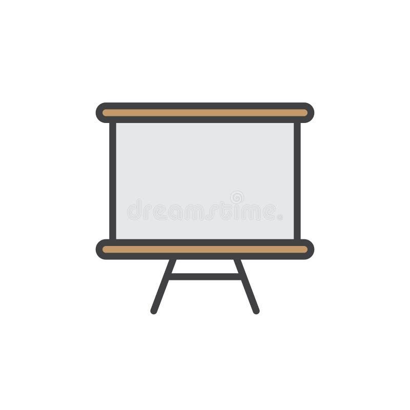 Το Whiteboard γέμισε το εικονίδιο περιλήψεων διανυσματική απεικόνιση