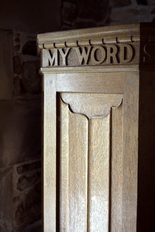 Το Word μου είναι ικανοποιητική εσένα unto στοκ φωτογραφία