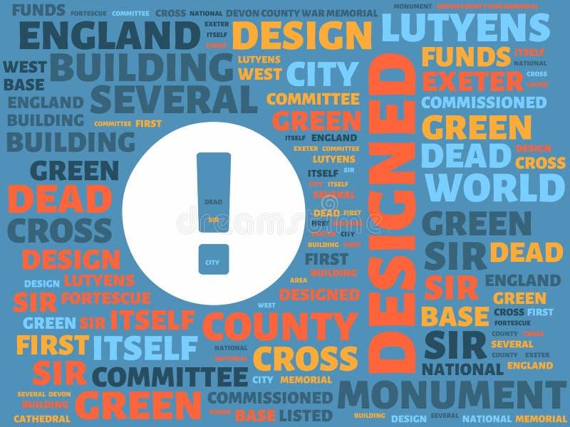 Το Wordcloud με την κύρια λέξη σχεδίασε και σύνδεσε τις λέξεις, αφηρημένη απεικόνιση διανυσματική απεικόνιση