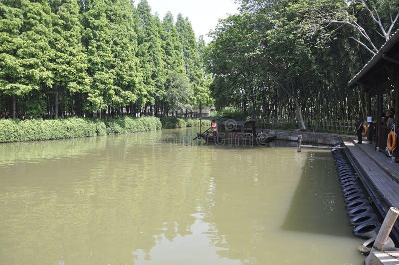 Το Wuzhen, 4ο μπορεί: Φυσική περιοχή της ιστορικής πόλης Wuzhen Dongzha μουσείων στοκ φωτογραφία με δικαίωμα ελεύθερης χρήσης