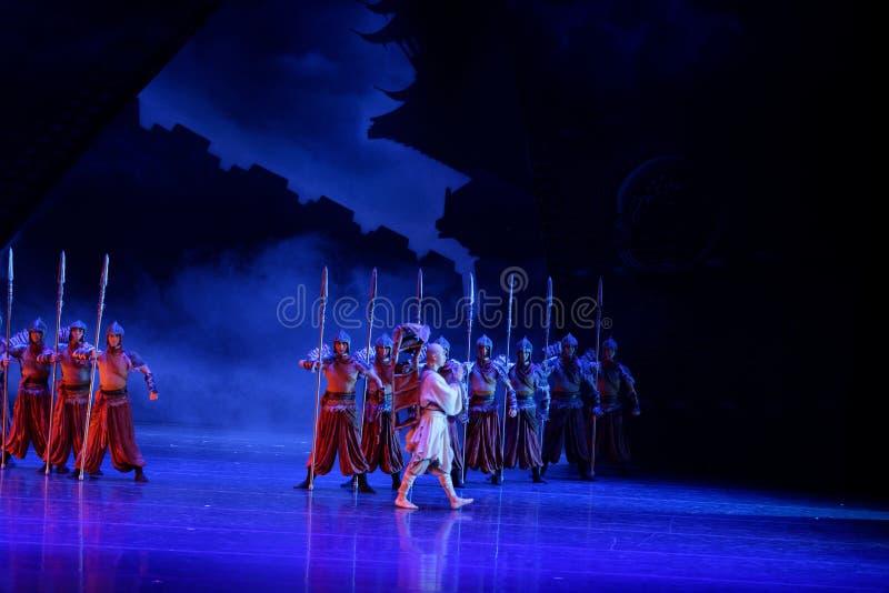 Το Xuan Zang ` s η έξοδος-τέσσερα πράξη ` εμπόδισε τον εκτελωνισμό ` - επική πριγκήπισσα ` μεταξιού δράματος ` χορού στοκ φωτογραφία με δικαίωμα ελεύθερης χρήσης
