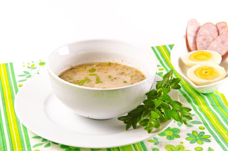 Το Zurek είναι μια κόσμιη πολωνική σούπα στοκ φωτογραφία
