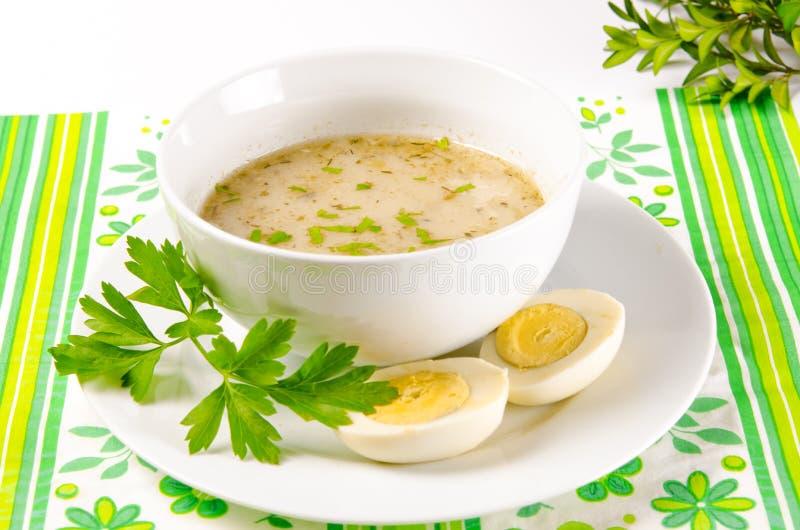 Το Zurek είναι μια πολωνική σούπα στοκ εικόνες