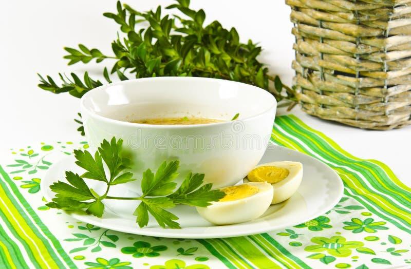 Το Zurek είναι μια πολωνική σούπα στοκ εικόνα με δικαίωμα ελεύθερης χρήσης