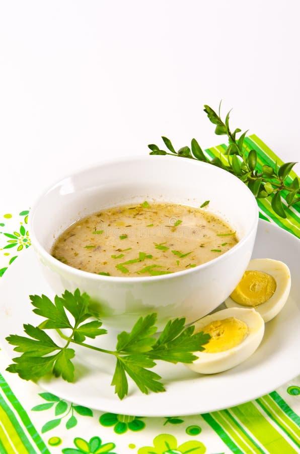 Το Zurek είναι μια πολωνική σούπα στοκ εικόνες με δικαίωμα ελεύθερης χρήσης