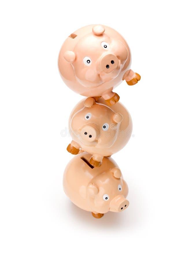 τράπεζα ισορροπίας piggy στοκ φωτογραφία με δικαίωμα ελεύθερης χρήσης