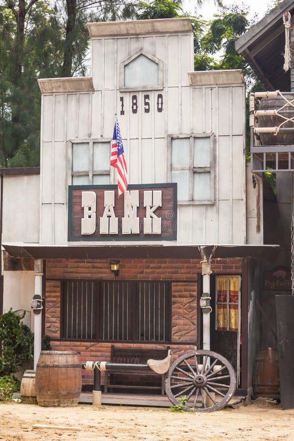 Τράπεζα στο άγριο δυτικό ύφος στοκ φωτογραφία