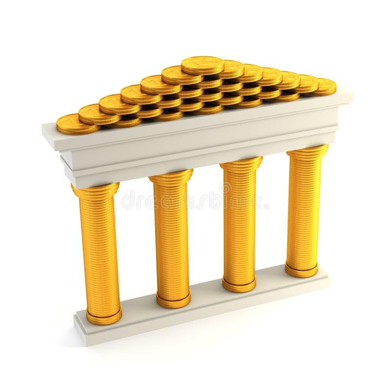 τράπεζα συμβολική διανυσματική απεικόνιση