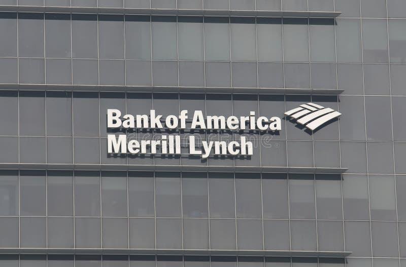 Τράπεζα της Αμερικής Merrill Lynch στοκ εικόνες