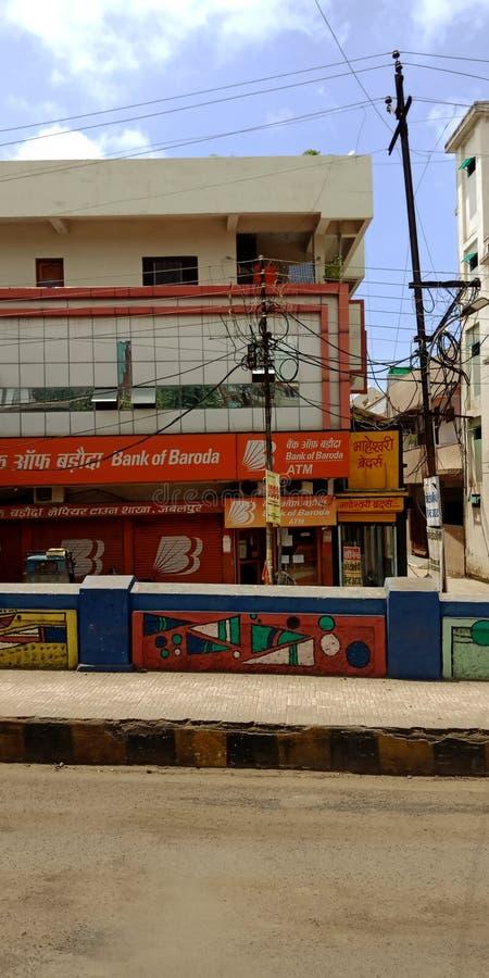 Τράπεζα της περιφέρειας Baroda jabalpur Madhya Pradesh στην Ινδία στοκ φωτογραφία