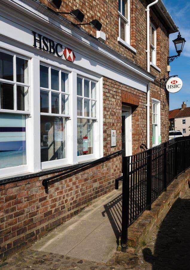 Τράπεζα της HSBC - μικρού χωριού τράπεζα - Αγγλία - UK στοκ εικόνα με δικαίωμα ελεύθερης χρήσης