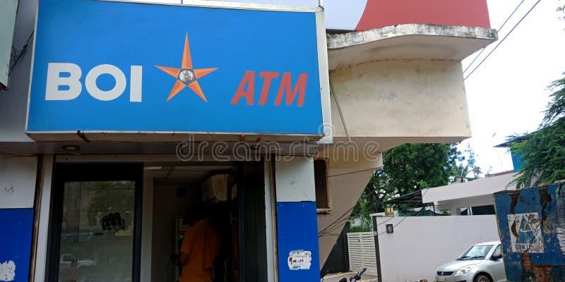 τράπεζα υποκαταστήματος atm της Baroda στην ινδία οκτώβριος 2019 στοκ εικόνα