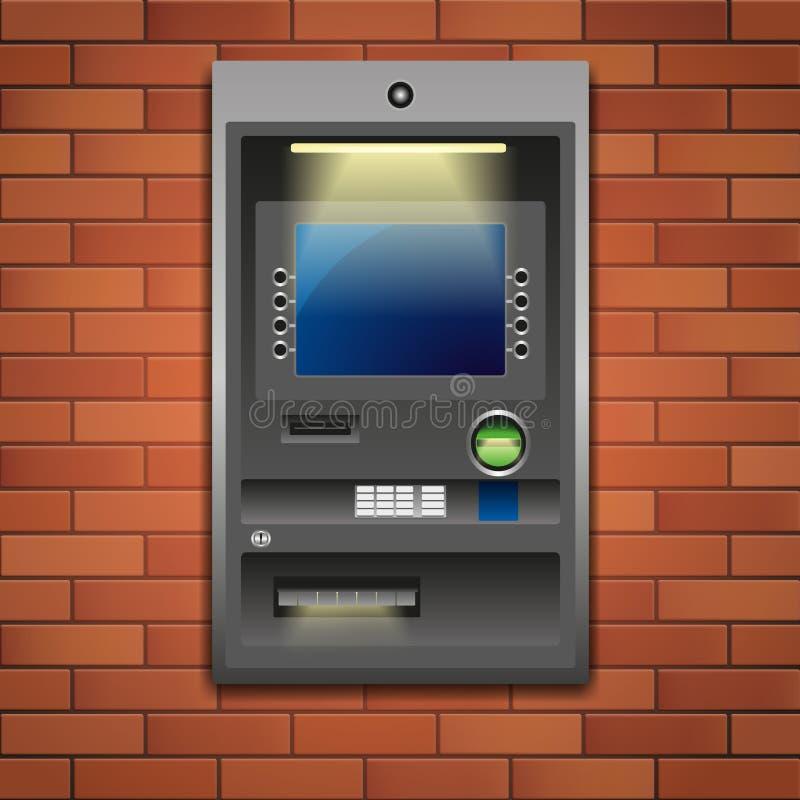 Τράπεζα ATM διανυσματική απεικόνιση
