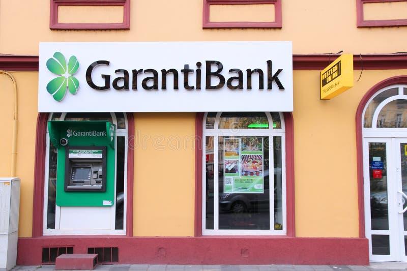 Τράπεζα Garanti στη Ρουμανία στοκ εικόνα με δικαίωμα ελεύθερης χρήσης