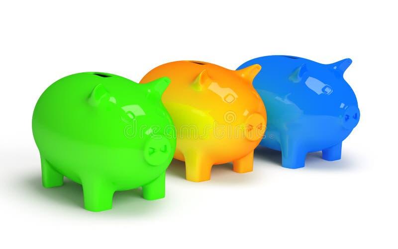Τράπεζα Piggy που απομονώνεται στο άσπρο υπόβαθρο στοκ εικόνες