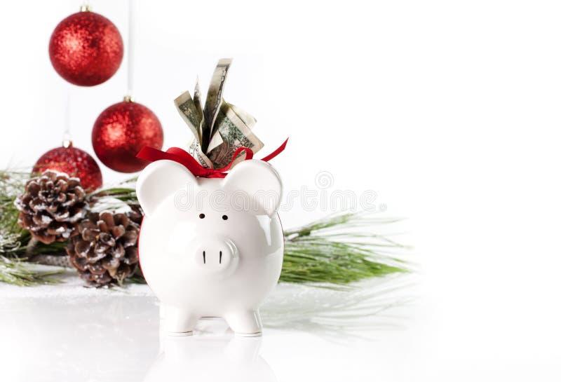 Τράπεζα 2 Piggy Χριστουγέννων στοκ εικόνα