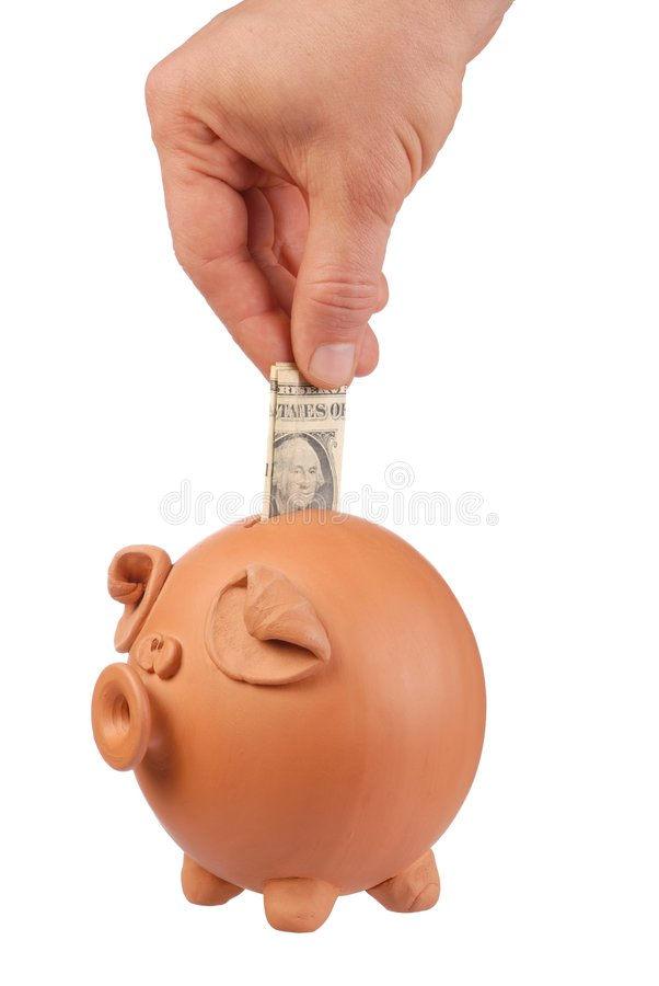 τράπεζα piggy στοκ φωτογραφίες