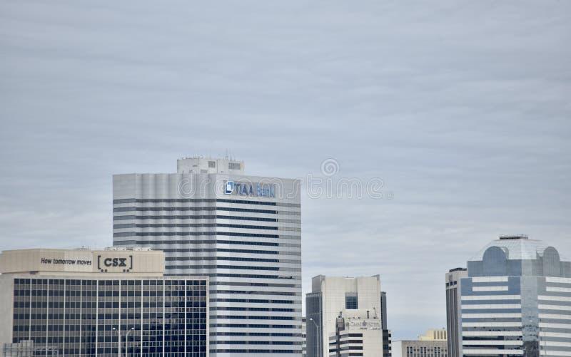 Τράπεζα TIAA, Τζάκσονβιλ, Φλώριδα στοκ φωτογραφία