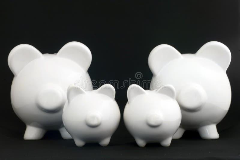 τράπεζες πολλές piggy στοκ εικόνες