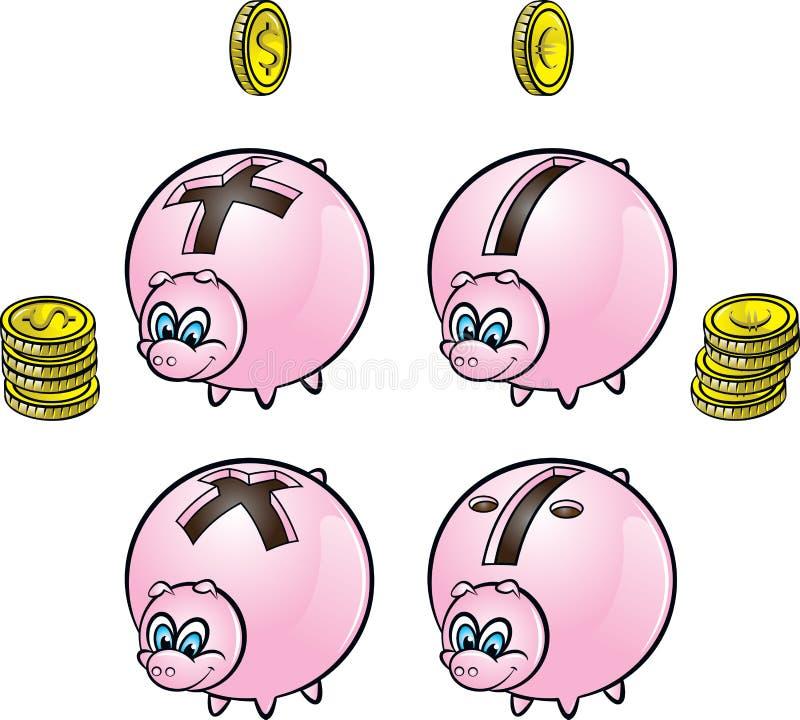 Τράπεζες Piggy ελεύθερη απεικόνιση δικαιώματος
