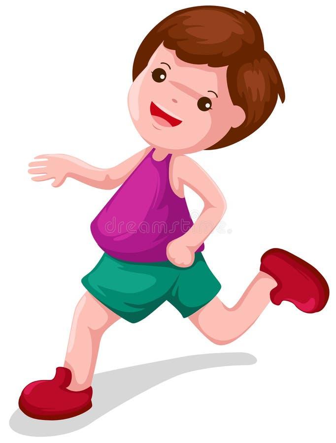 τρέξιμο αγοριών διανυσματική απεικόνιση