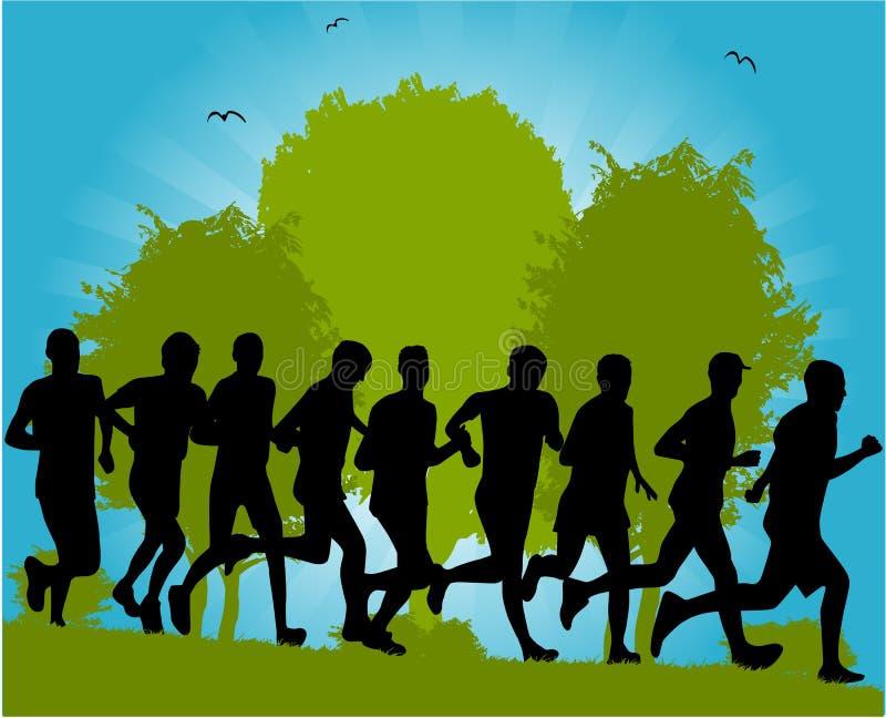 τρέξιμο ανθρώπων ομάδας ελεύθερη απεικόνιση δικαιώματος