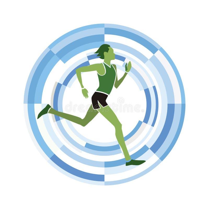 Τρέξιμο αριθμού ατόμων απεικόνιση αποθεμάτων