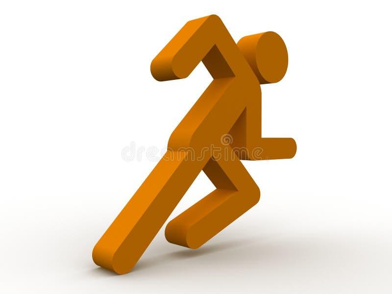 τρέξιμο ατόμων εικονιδίων ελεύθερη απεικόνιση δικαιώματος
