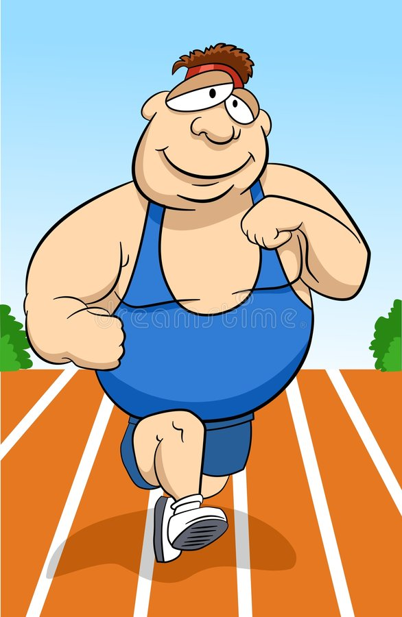 τρέξιμο ατόμων διανυσματική απεικόνιση