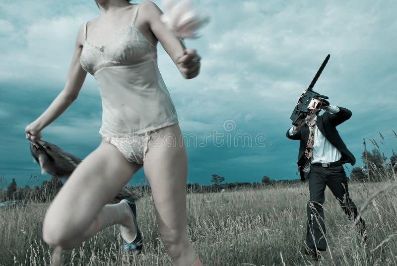 Τρέξιμο για τα τρόφιμα. στοκ εικόνα