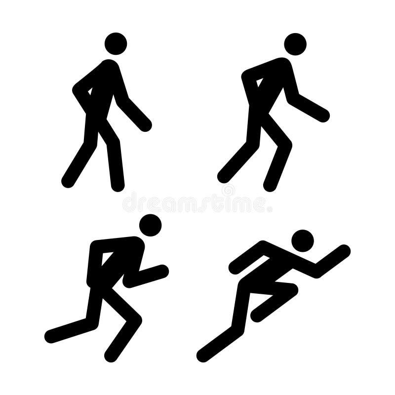 τρέξιμο εικονογραμμάτων Στοκ Φωτογραφίες