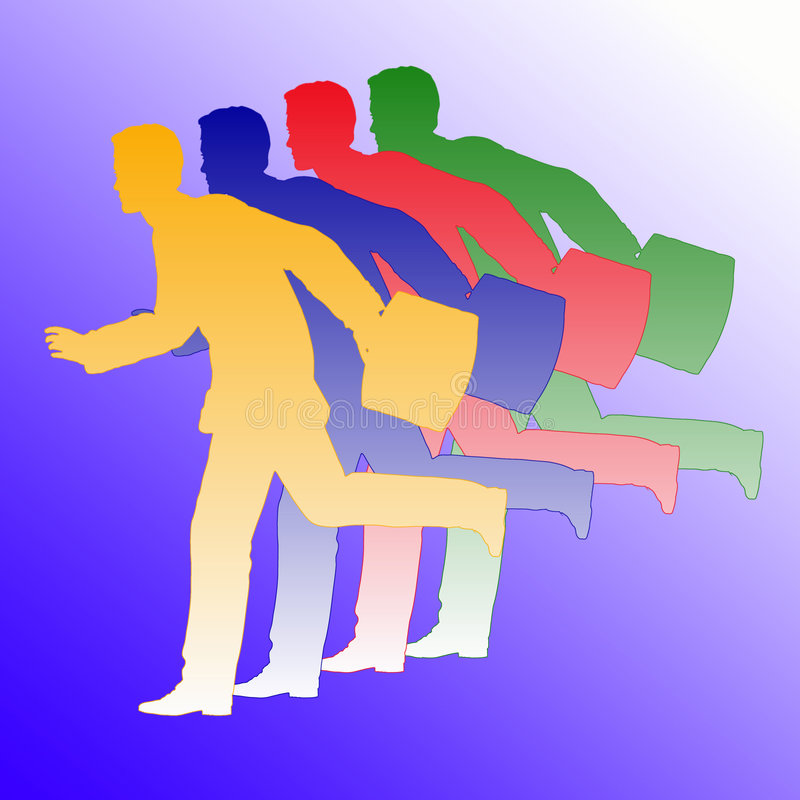 τρέξιμο επιχειρηματιών απεικόνιση αποθεμάτων