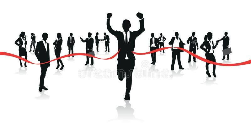 Τρέξιμο επιχειρηματιών διανυσματική απεικόνιση