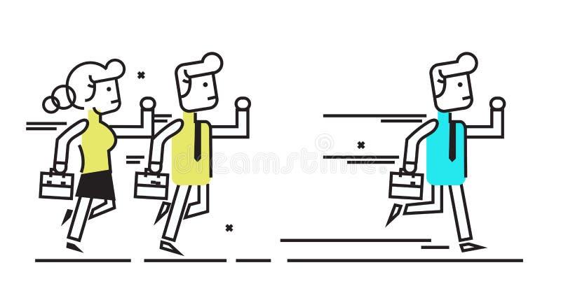 τρέξιμο επιχειρηματιών ελεύθερη απεικόνιση δικαιώματος
