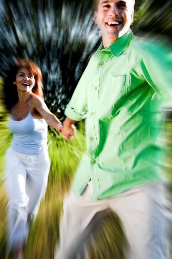 τρέξιμο ζευγών στοκ φωτογραφίες με δικαίωμα ελεύθερης χρήσης