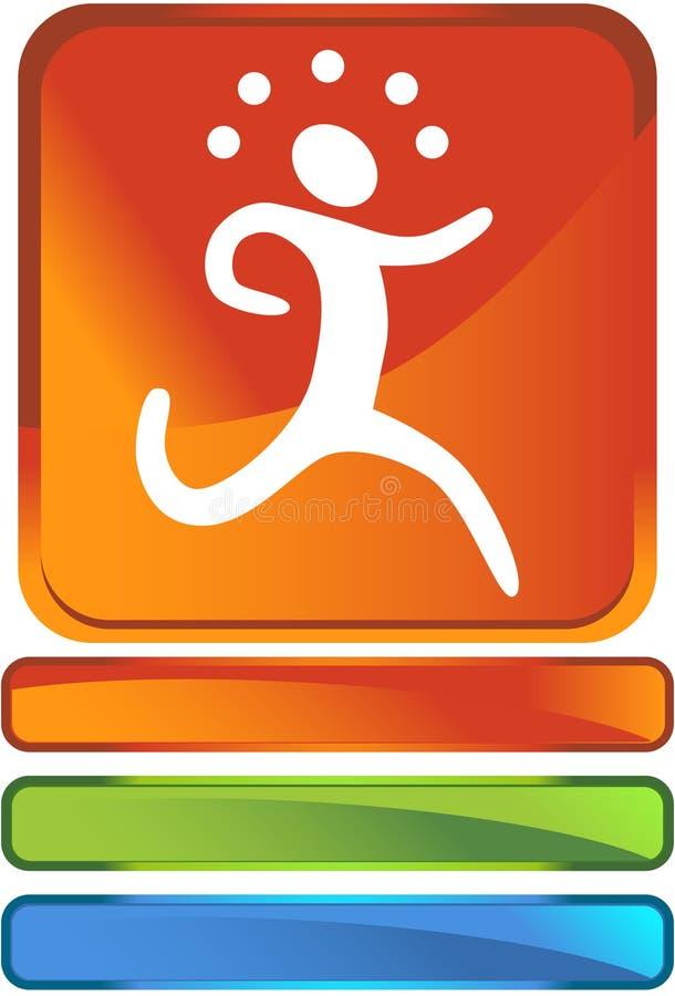 τρέξιμο κουμπιών ελεύθερη απεικόνιση δικαιώματος