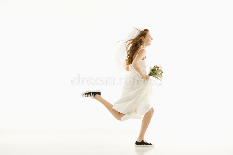 τρέξιμο νυφών στοκ φωτογραφία