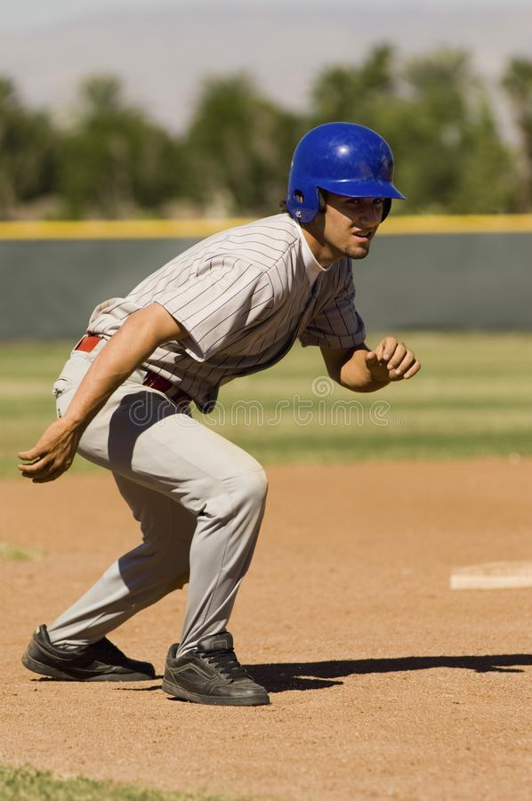 Τρέξιμο παιχτών του μπέιζμπολ στοκ εικόνες