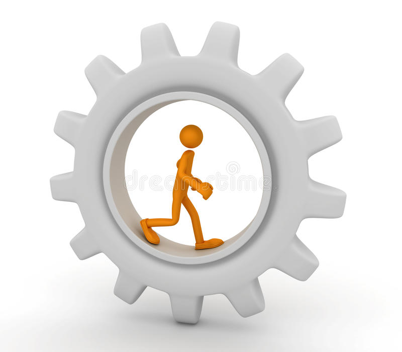 τρέξιμο προσώπων εργαλείω ελεύθερη απεικόνιση δικαιώματος