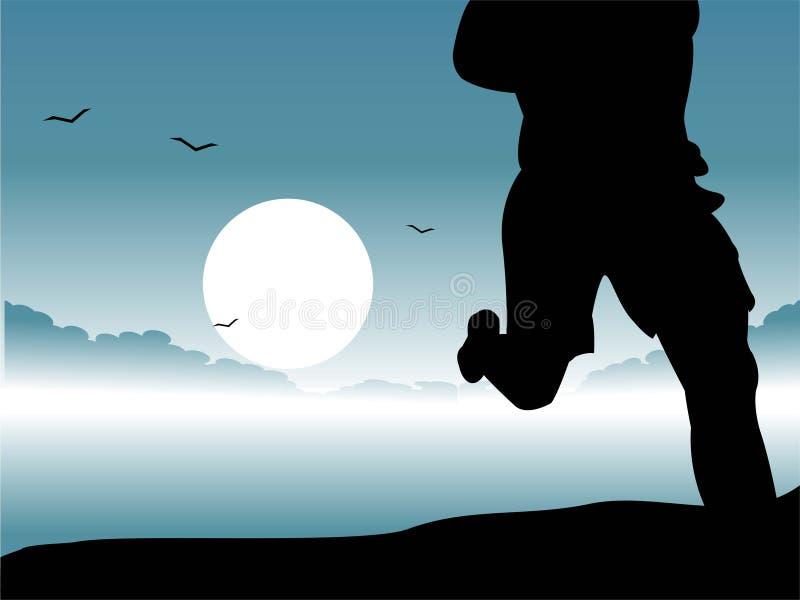 τρέξιμο πρωινού ελεύθερη απεικόνιση δικαιώματος