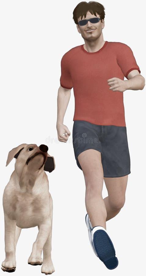 τρέξιμο σκυλιών διανυσματική απεικόνιση