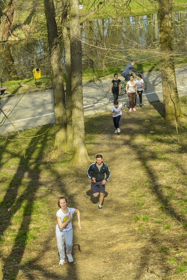 Τρέξιμο στο πάρκο στοκ φωτογραφίες με δικαίωμα ελεύθερης χρήσης