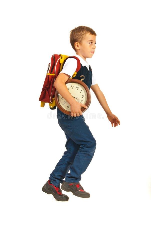 Τρέξιμο στο σχολείο στοκ φωτογραφίες