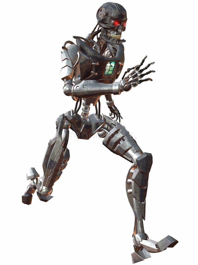 τρέξιμο 3000 cyborg διανυσματική απεικόνιση