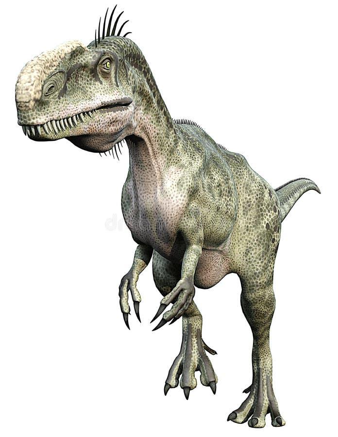 τρέξιμο monolophosaurus διανυσματική απεικόνιση
