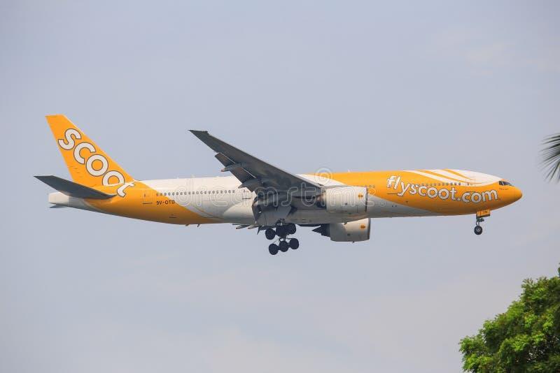 Τρέξτε τις αερογραμμές Boeing 777 στοκ εικόνες